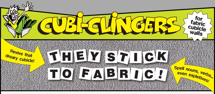 cubiclingers cubicle toy they stick to fabric